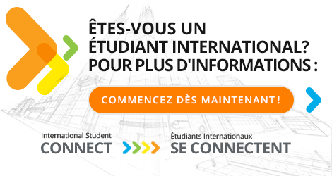 Étudiants internationaux se connectent